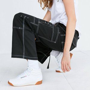 Dickies Black Carpenter Pants White Stitching